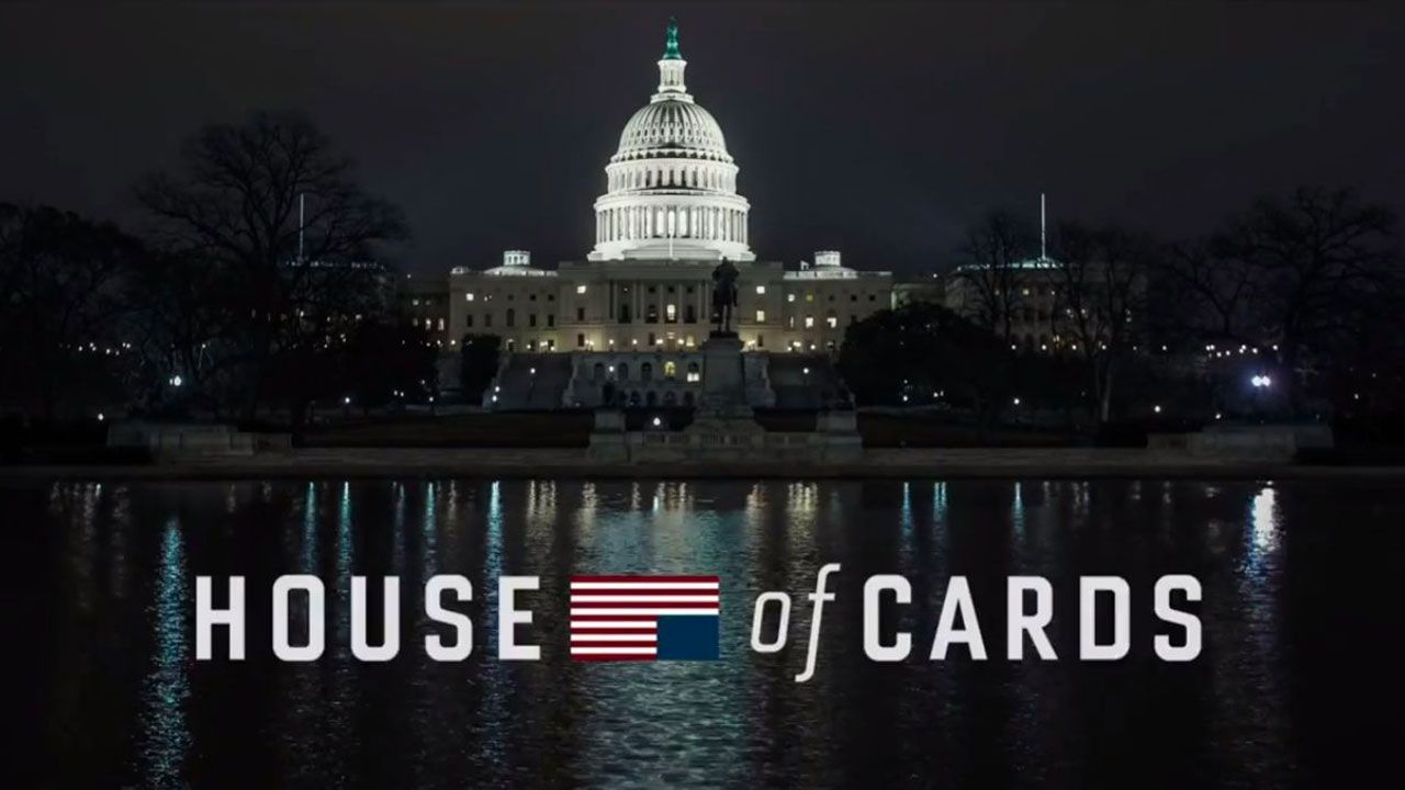 L'affiche de la série House of cards