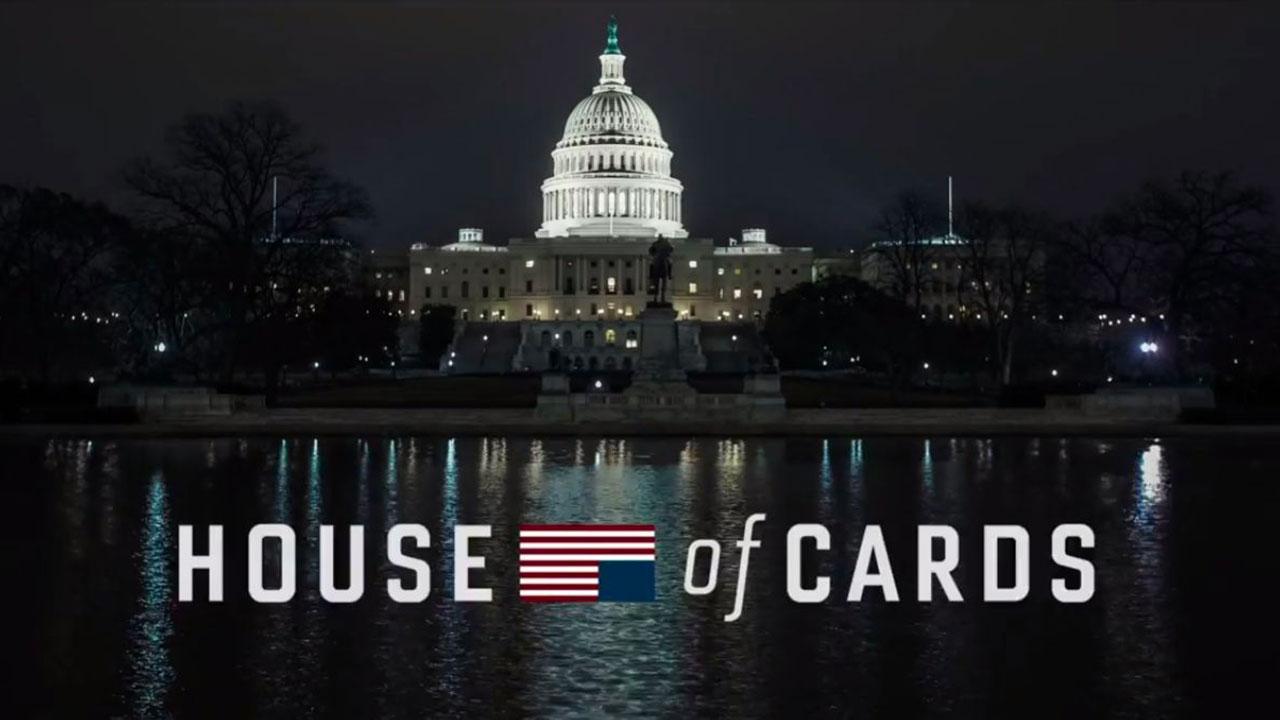 L'affiche de la série House of cards